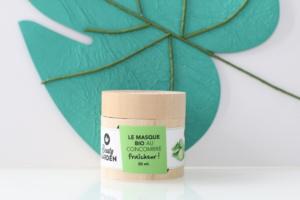 Masque bio fraîcheur au concombre Beauty Garden. Cosmétique naturel, vegan et cruelty-free.