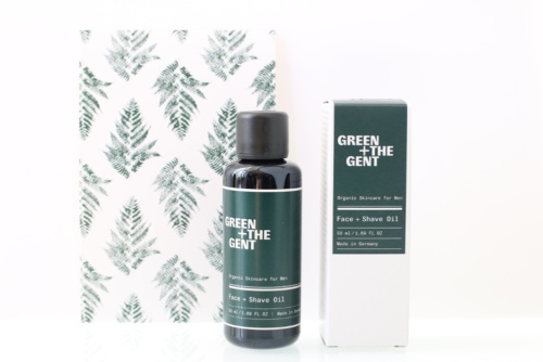 Huile de rasage visage bio, vegan, naturel et cruelty-free GREEN + THE GENT