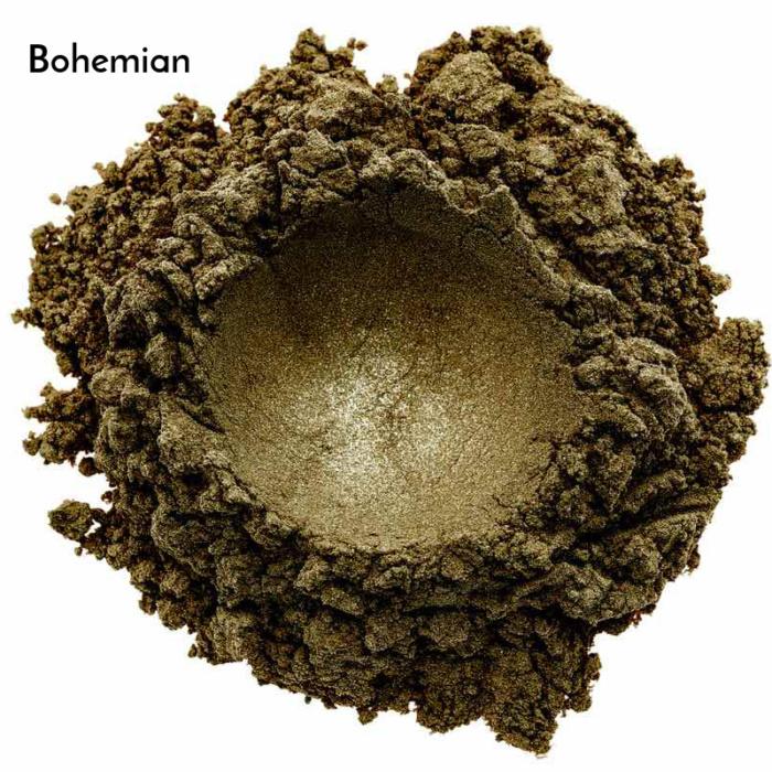 Swatch de l'ombre à paupières minérale bio et vegan Bohemian de Baims