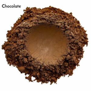 Swatch de l'ombre à paupières Chocolate de Baims
