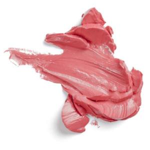 Swatch du rouge à lèvres Guava de Baims
