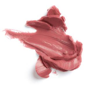 Swatch du rouge à lèvres Suede de Baims