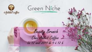 Brunch et atelier beauté vegan avec Addict Coffee et Green Niche à Liège