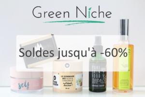 Soldes sur Green Niche, boutique belge de cosmétiques vegan, cruelty-free et naturels
