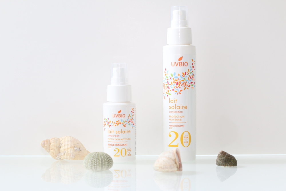 Spray solaire SPF 20 bio, vegan, naturel et cruelty-free UVBIO