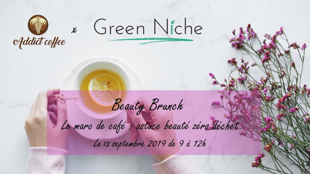 Beauty Brunch chez Addict Coffee à Liège avec les cosmétiques vegan et naturels Green Niche