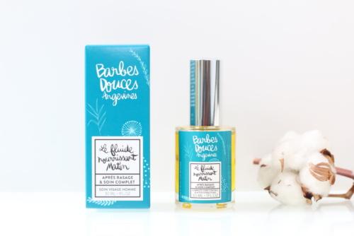 Bio, vegan, natuurlijke en cruelty-free aftershave en gezichtsverzorging Matin van Douces Angevines