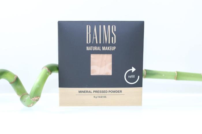 Recharge de la poudre minérale compacte bio et vegan de Baims
