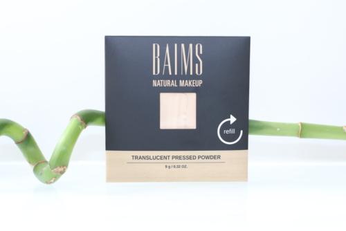 Recharge de la poudre minérale compacte translucide bio, naturelle et vegan de Baims