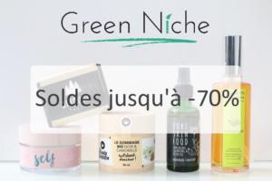 Cosmétiques vegan, bio et naturels à petits prix sur Green Niche : soldes