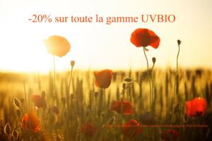 Promotion sur les produits solaires bio, vegan, cruelty-free et naturels UVBIO