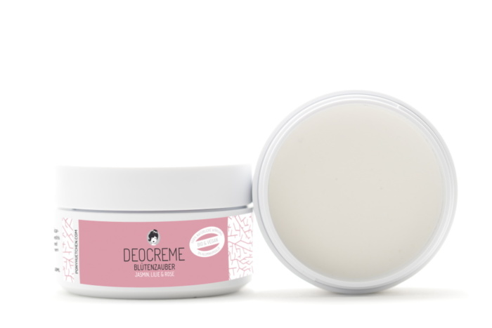 Déodorant crème vegan, cruelty-free, bio et naturel Blütenzauber Jardin fleuri de Pony Hütchen