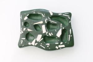Porte-savon terrazzo vert sapin de l'artisane Sophie Rahir (Liège)