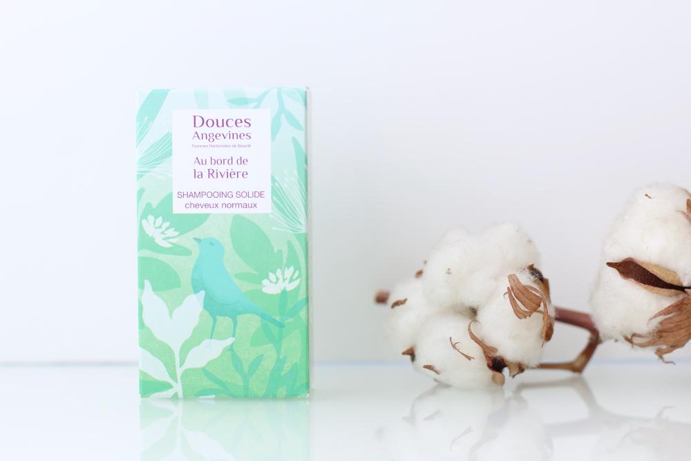 Shampooing solide bio, vegan et naturel Au bord de la rivière de Douces Angevines