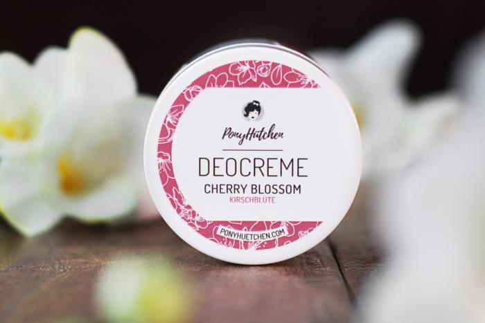 Déodorant crème bio, vegan et naturel Fleur de cerisier Cherry Blossom Kirschblüte de Pony Hütchen