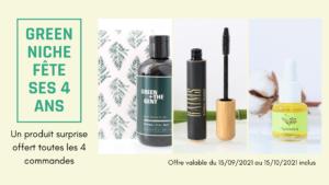 Produit gratuit cosmétique vegan, naturel et bio Green Niche